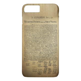 Declaración de Independencia del vintage Funda iPhone 7 Plus