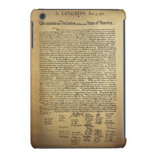 Declaración de Independencia del vintage Fundas De iPad Mini Retina