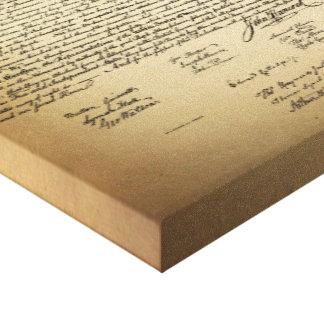 Declaración de Independencia del vintage Impresión En Lona