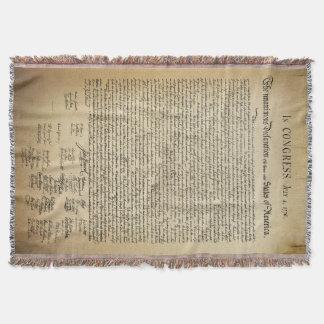 Declaración de Independencia del vintage Manta