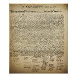 Declaración de Independencia del vintage Impresiones