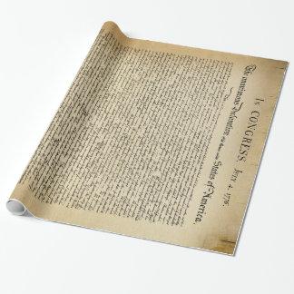 Declaración de Independencia del vintage Papel De Regalo