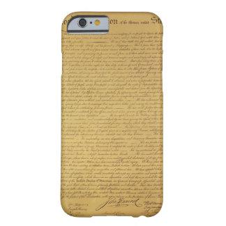 Declaración de Independencia Funda De iPhone 6 Barely There