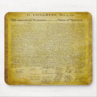Declaración de Independencia Mousepad Tapete De Raton