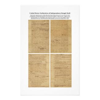 Declaración de Independencia ORIGINAL del borrador Papelería