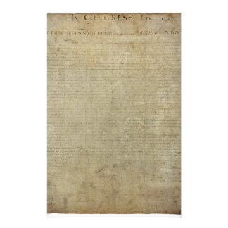 Declaración de Independencia original Papelería Personalizada
