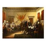 Declaración de Independencia por la postal de Trum