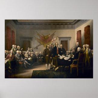 Declaración de Independencia presentada al congres Poster