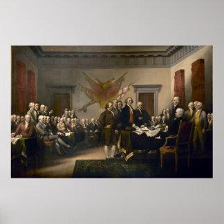 Declaración de Independencia presentada al congres Póster