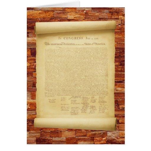 Declaración de Independencia Tarjeta De Felicitación
