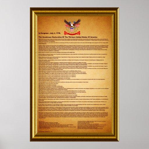 "Declaración de Independencia V-2-Style-2 40"" X60 "" Póster"