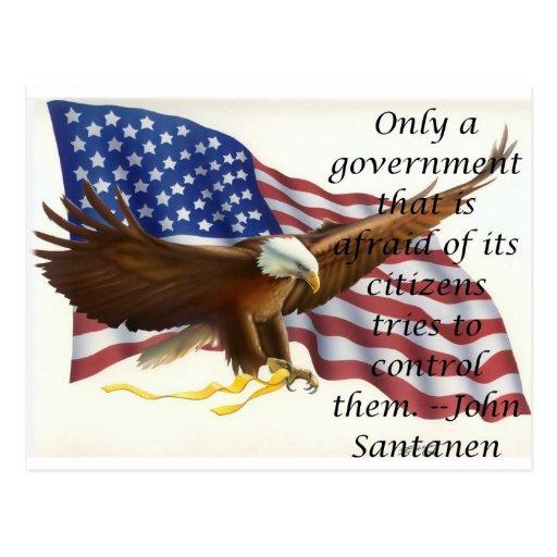 Declaración de la bandera de control gubernamental postal