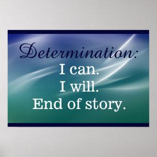 Declaración de la impresión de la determinación póster