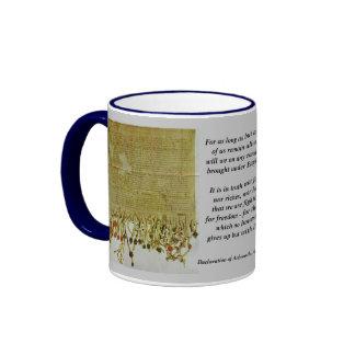 Declaración de la taza del regalo de Arbroath