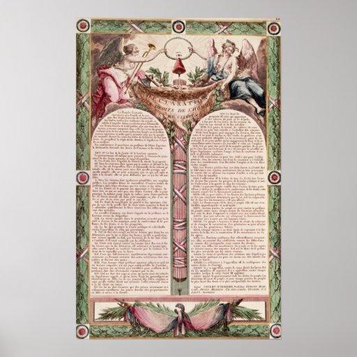 Declaración de las derechas del hombre, 1793 posters