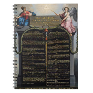 Declaración de las derechas del hombre y del ciuda spiral notebooks
