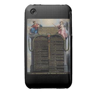 Declaración de las derechas del hombre y del ciuda Case-Mate iPhone 3 coberturas