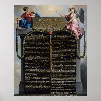 Declaración de las derechas del hombre y del ciuda póster
