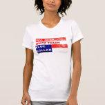 Declaración de moda del cuello azul de la basura b camisetas