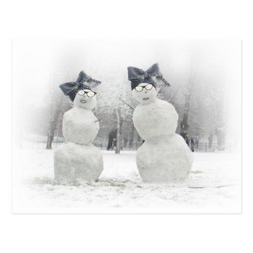 Declaración de moda hecha por los muñecos de nieve postal