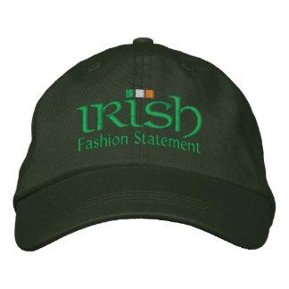 Declaración de moda irlandesa gorra bordada