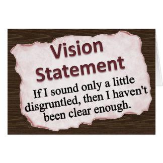 Declaración de Vision Felicitacion