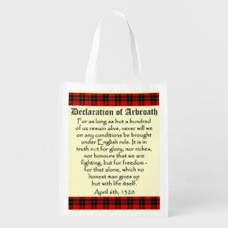 Declaración del bolso del tartán de Arbroath Bolsa Para La Compra
