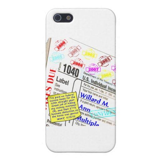 Declaración del impuestos de Mitt Romney 2009 iPhone 5 Funda