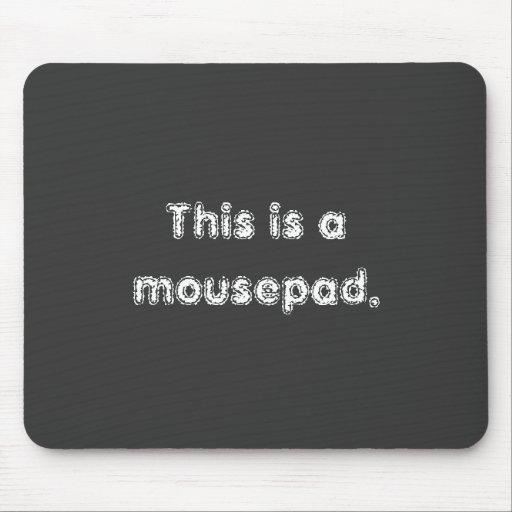 Declaración del Mousepad obvio