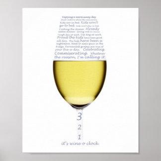 Declaración del poster del reloj del vino o