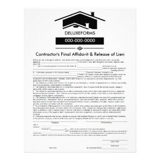 Declaración jurada del tejado negro y lanzamiento membretes personalizados