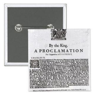 Declaración real, 1675 pin cuadrado