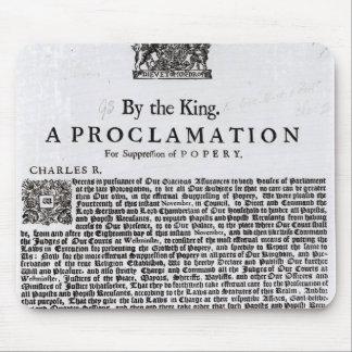 Declaración real, 1675 tapetes de raton