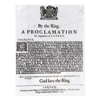 Declaración real, 1675 tarjeta postal
