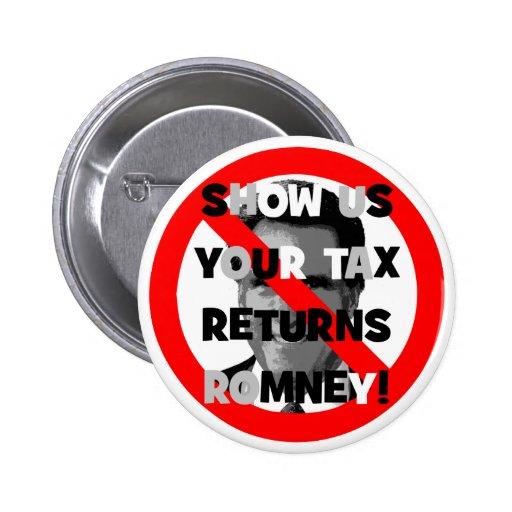Declaraciones de impuestos de Romney Pin Redondo 5 Cm