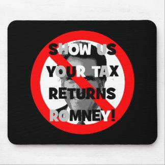 Declaraciones de impuestos de Romney Tapete De Ratones