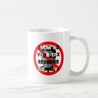 Declaraciones de impuestos de Romney Tazas De Café