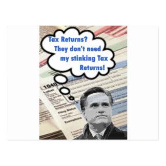 declaraciones de impuestos que apestan tarjeta postal