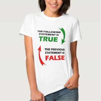 Declaraciones verdaderas y falsas camisas