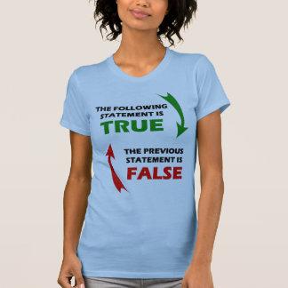 Declaraciones verdaderas y falsas playera