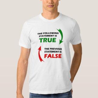 Declaraciones verdaderas y falsas polera