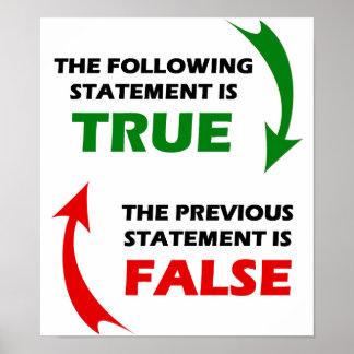 Declaraciones verdaderas y falsas póster