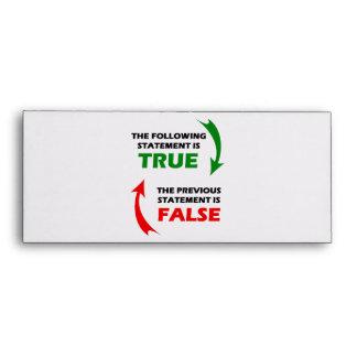 Declaraciones verdaderas y falsas sobres