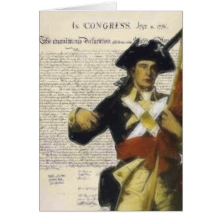 Declaration and Minute Man Greeting Card