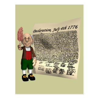 Declaration July 4th 1776 Postcard