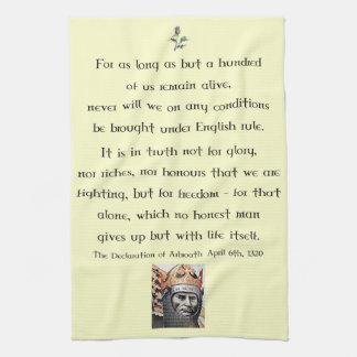 Declaration of Arbroath Robert the Bruce Tea Towel