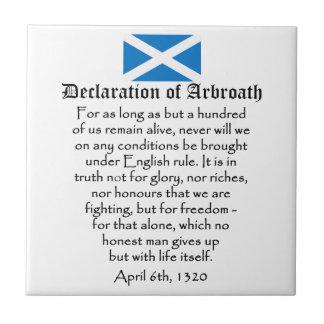 Declaration of Arbroath Scottish Independence Tile