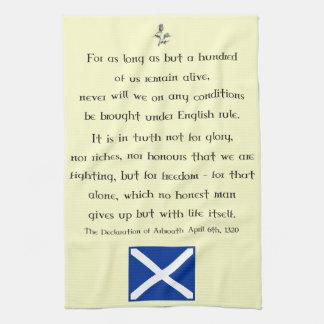 Declaration of Arbroath Scottish Tea Towel