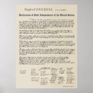 Declaration of Debt Independence Poster