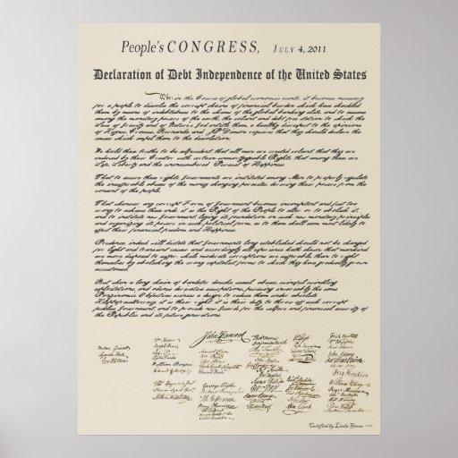 Declaration of Debt Independence Print